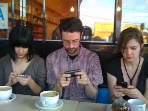 students-on-smartphones