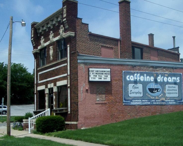 the now-defunct Caffeine Dreams coffee shop in Omaha